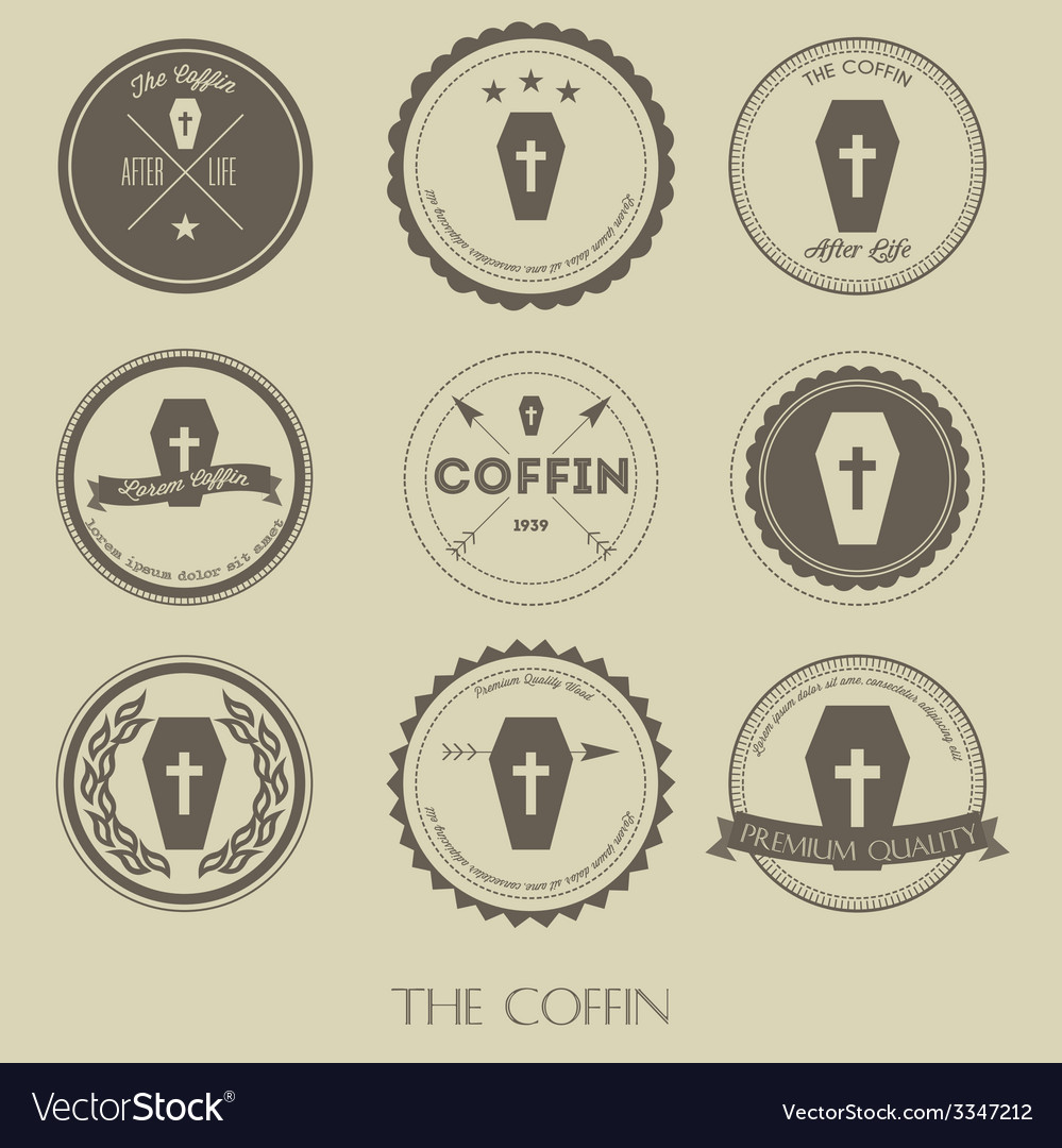 The vintage style of coffin business logo vector | Price: 1 Credit (USD $1)