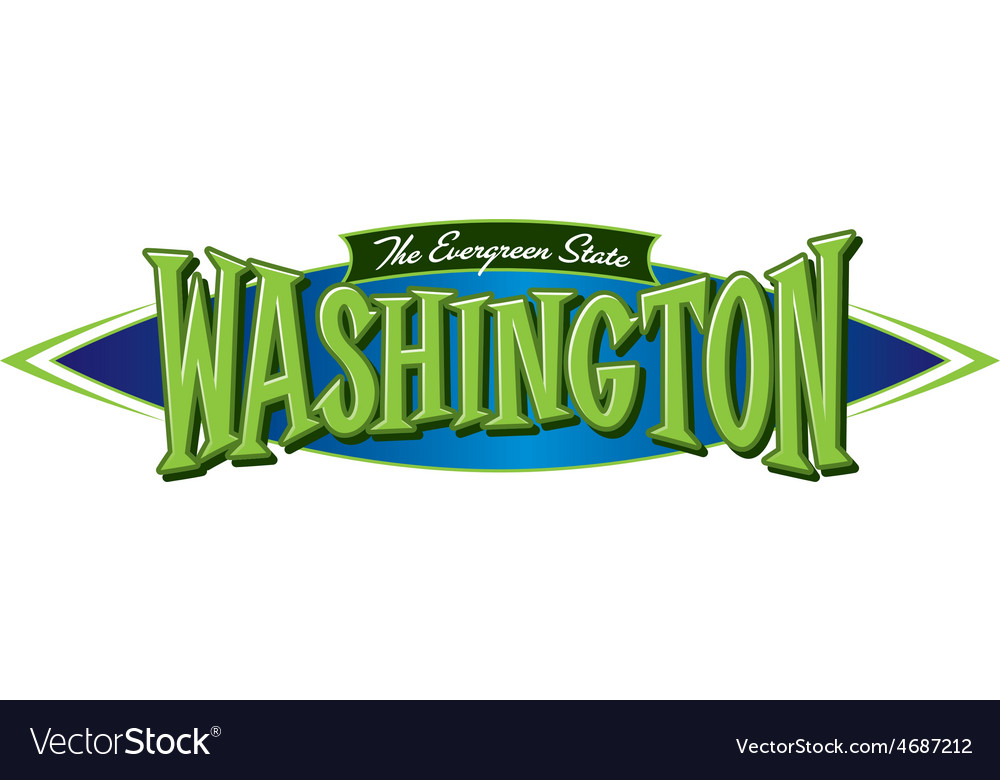 Washington the evergreen state vector | Price: 3 Credit (USD $3)