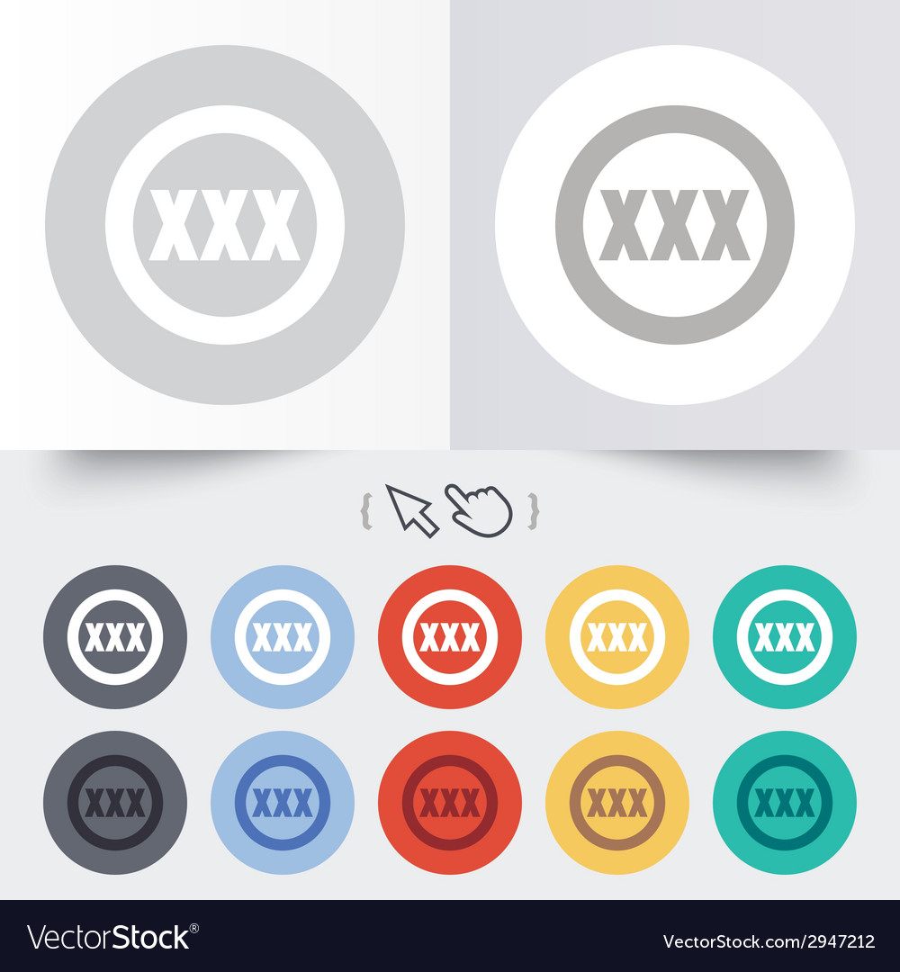 Xxx sign icon adults only content symbol vector   Price: 1 Credit (USD $1)