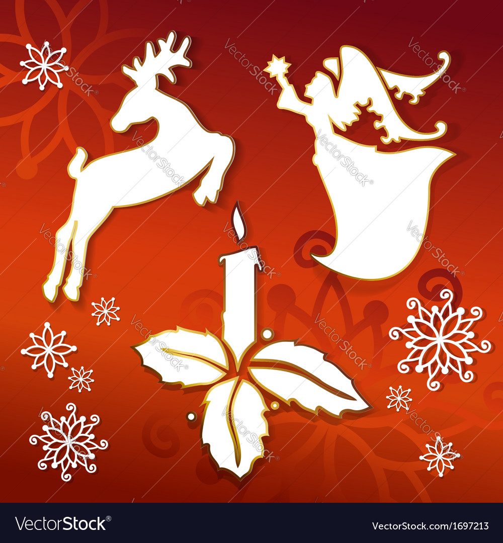 Christmas icons silhouettes llustration vector | Price: 1 Credit (USD $1)