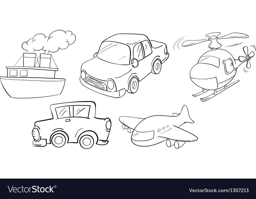 Different kinds of transportations vector | Price: 1 Credit (USD $1)