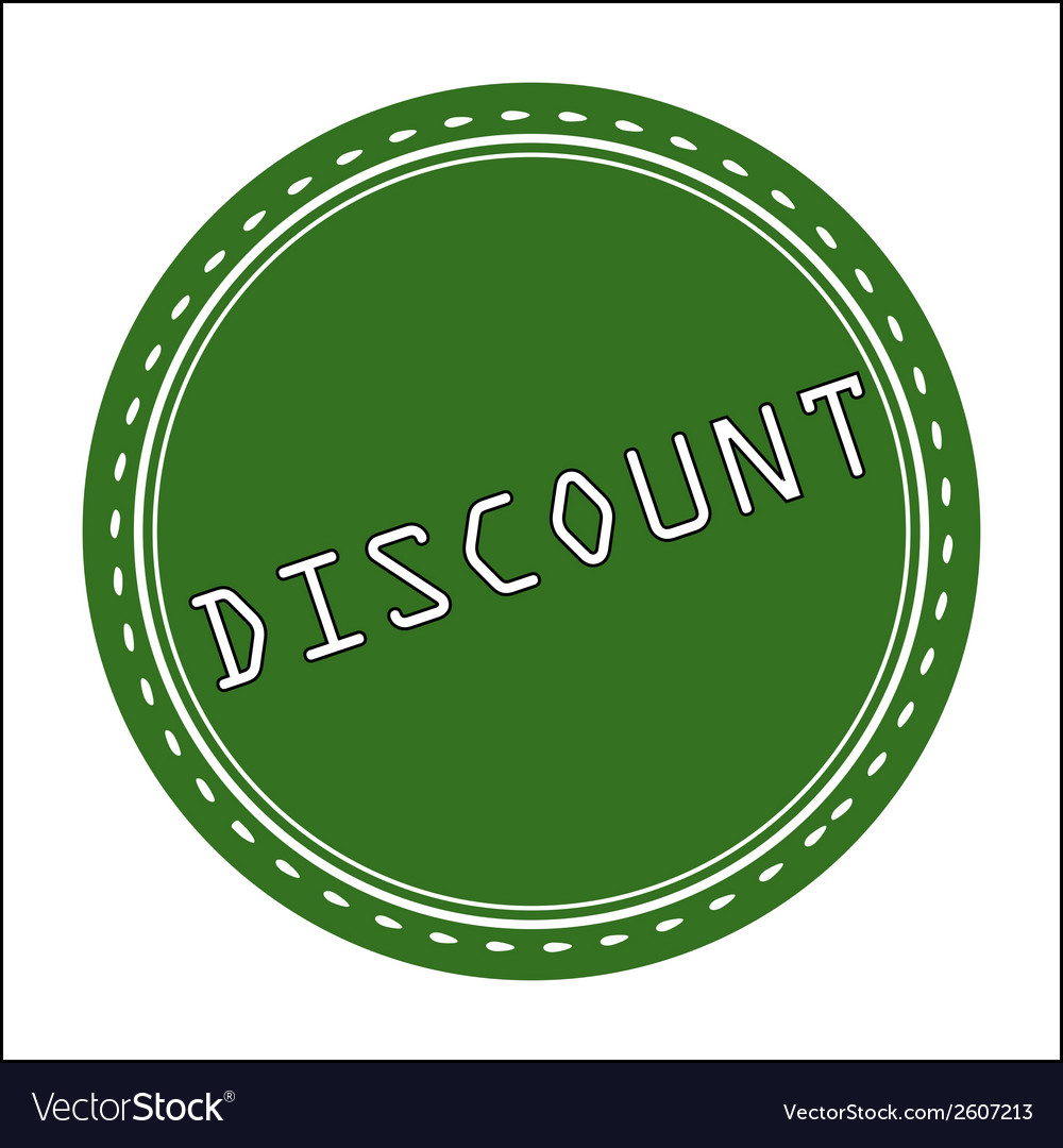 Discount icon badge label or sticke vector | Price: 1 Credit (USD $1)