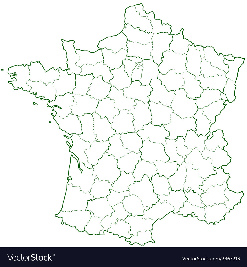 France contour map vector | Price: 1 Credit (USD $1)