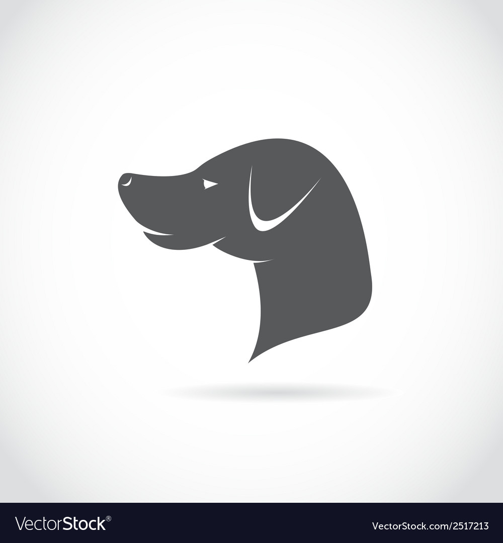 Image of an dog head vector | Price: 1 Credit (USD $1)