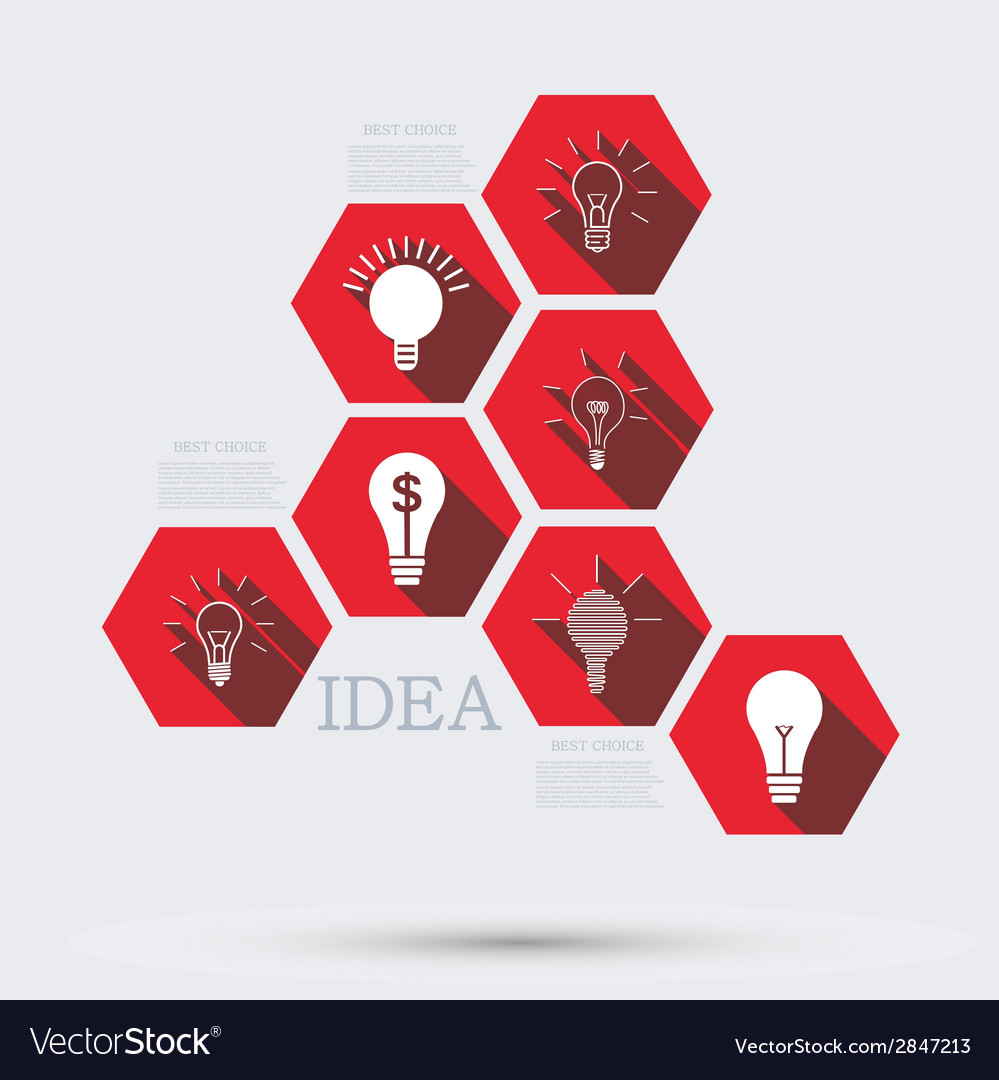Modern idea infographic background vector | Price: 1 Credit (USD $1)