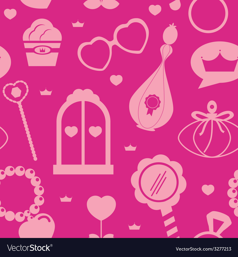 Princess acssessories pattern vector | Price: 1 Credit (USD $1)