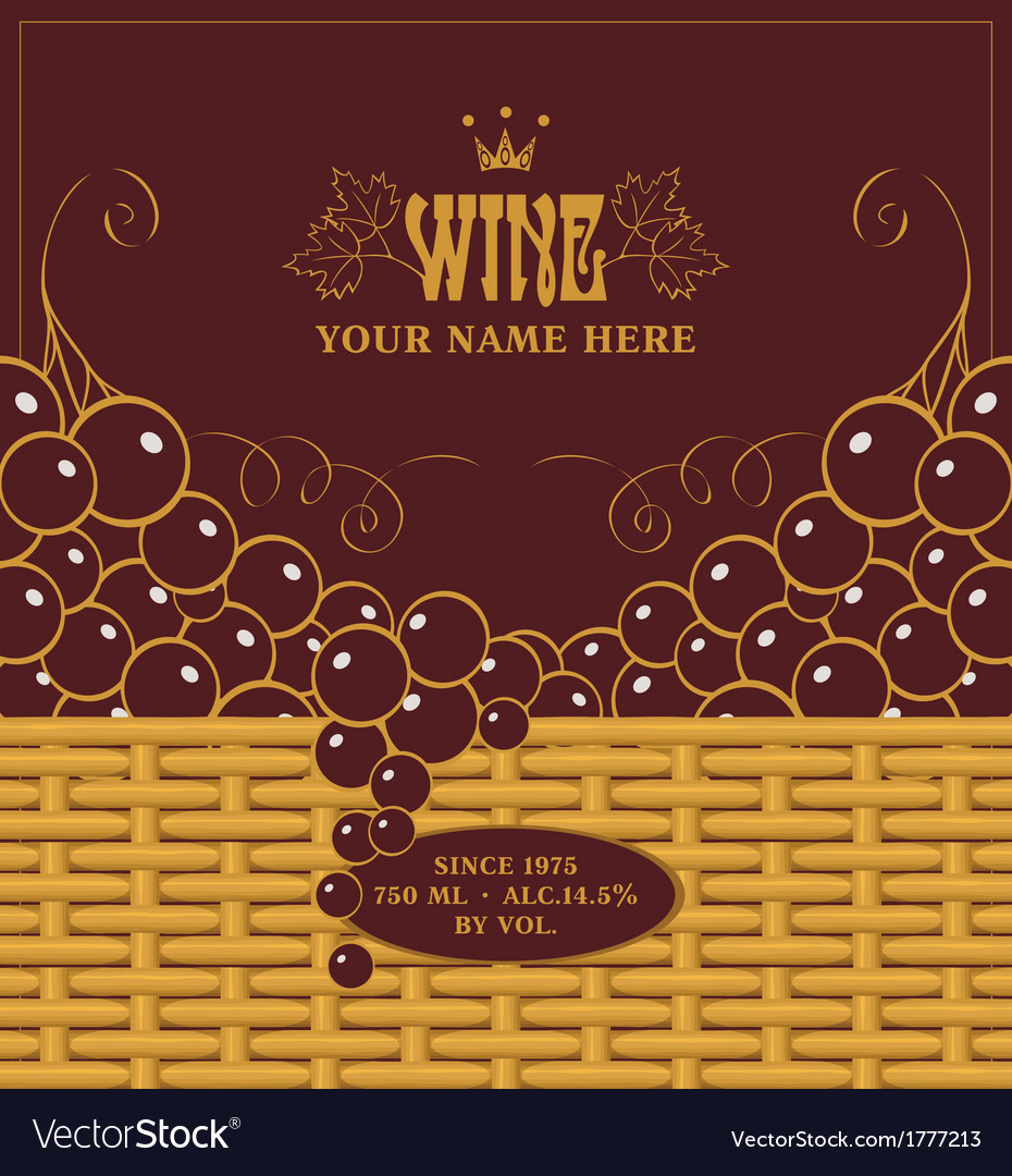 Red wine labels vector | Price: 1 Credit (USD $1)