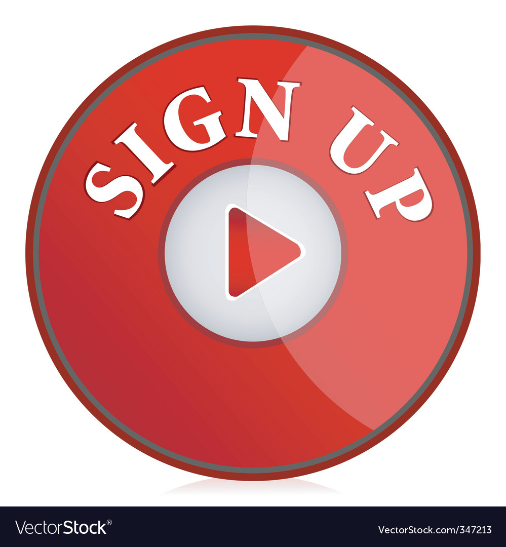 Sign up button vector | Price: 1 Credit (USD $1)
