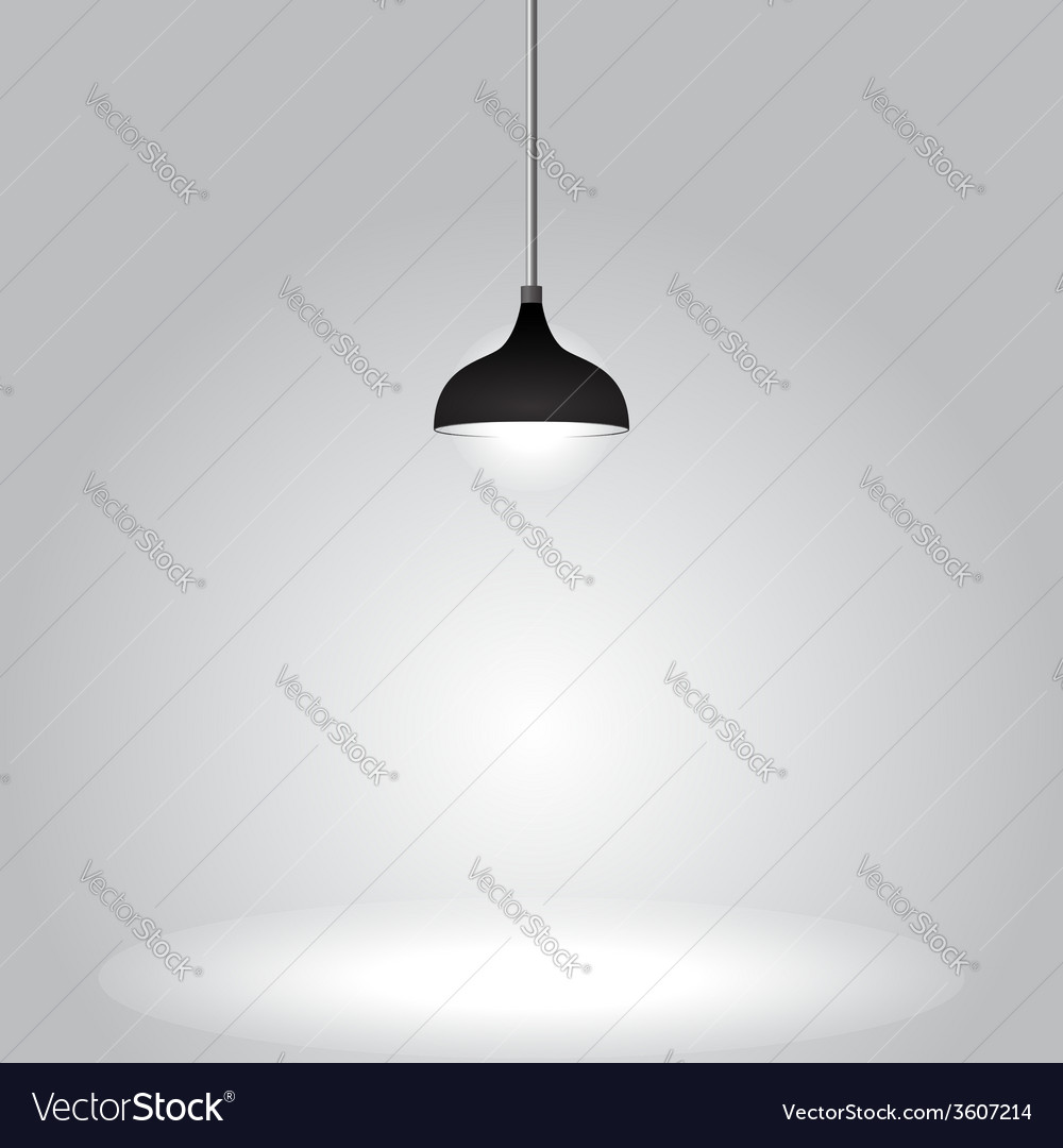 Black ceiling lamp on gray background vector | Price: 1 Credit (USD $1)
