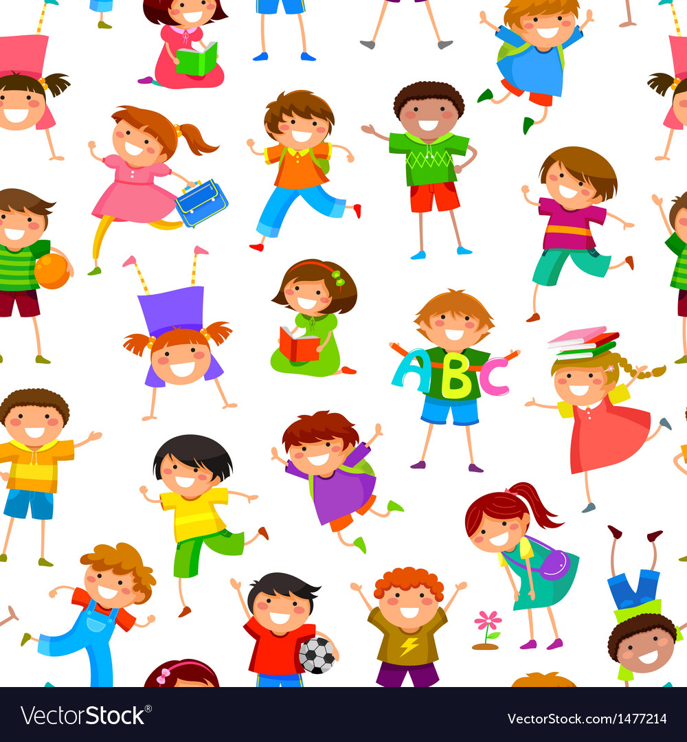 Cartoon kids pattern vector | Price: 3 Credit (USD $3)