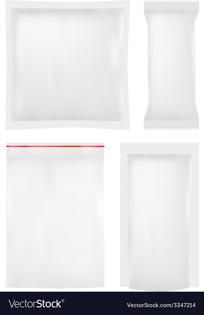 Collection of various plastic bags on white vector | Price: 1 Credit (USD $1)
