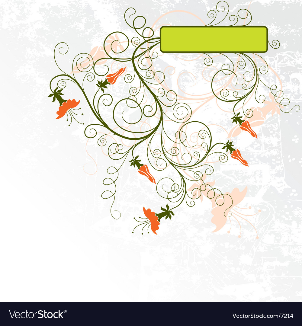 Decorative grunge floral background vector | Price: 1 Credit (USD $1)