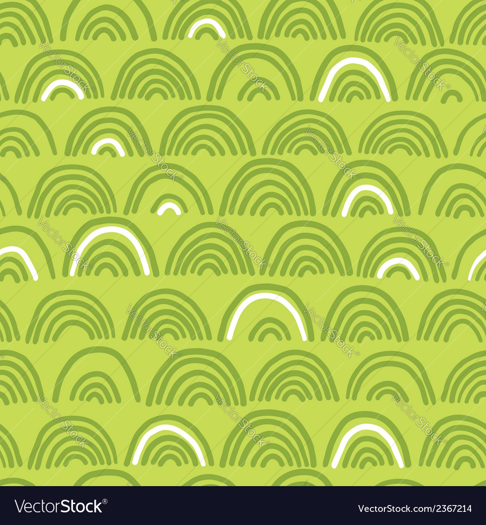 Doodle seamless wave pattern vector | Price: 1 Credit (USD $1)