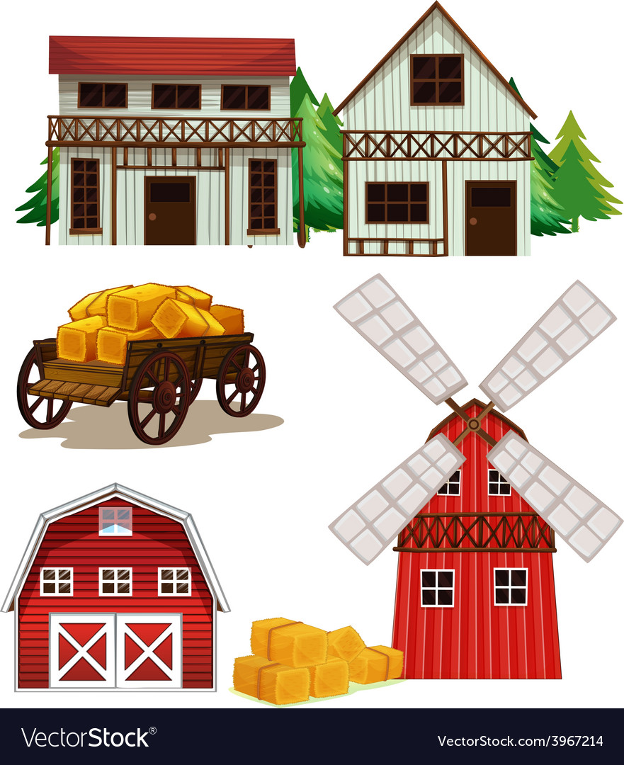Farm buildings vector | Price: 3 Credit (USD $3)