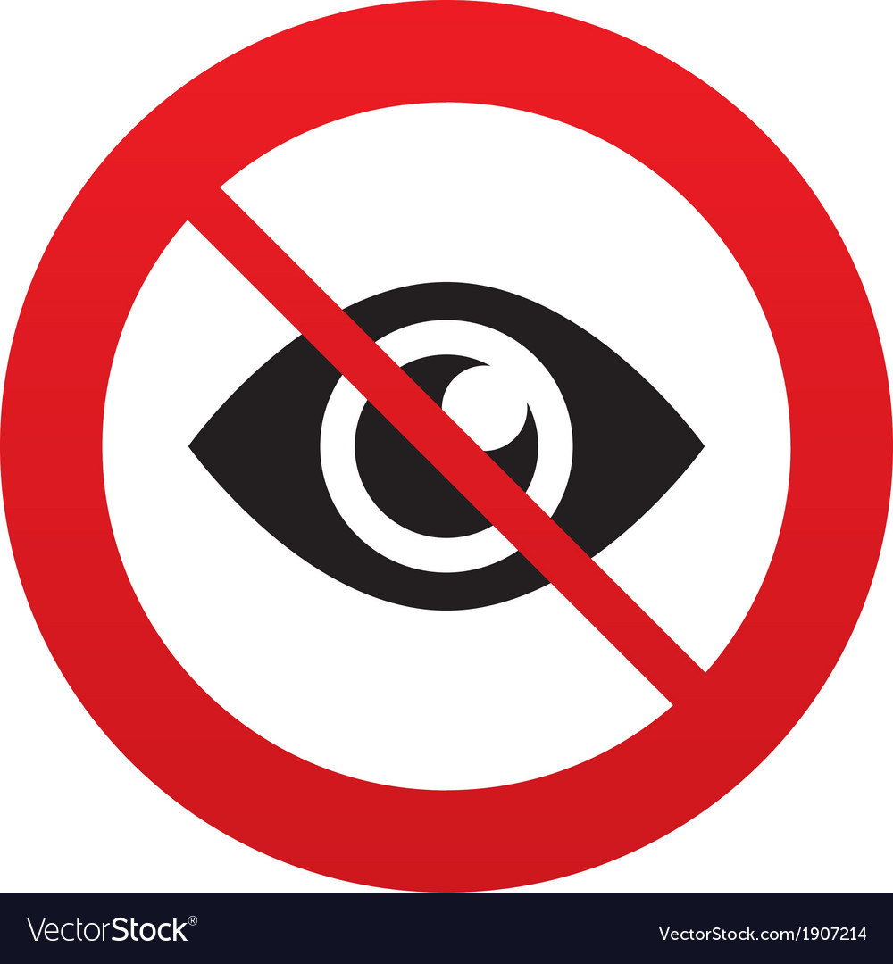 No look eye sign icon publish content button vector | Price: 1 Credit (USD $1)