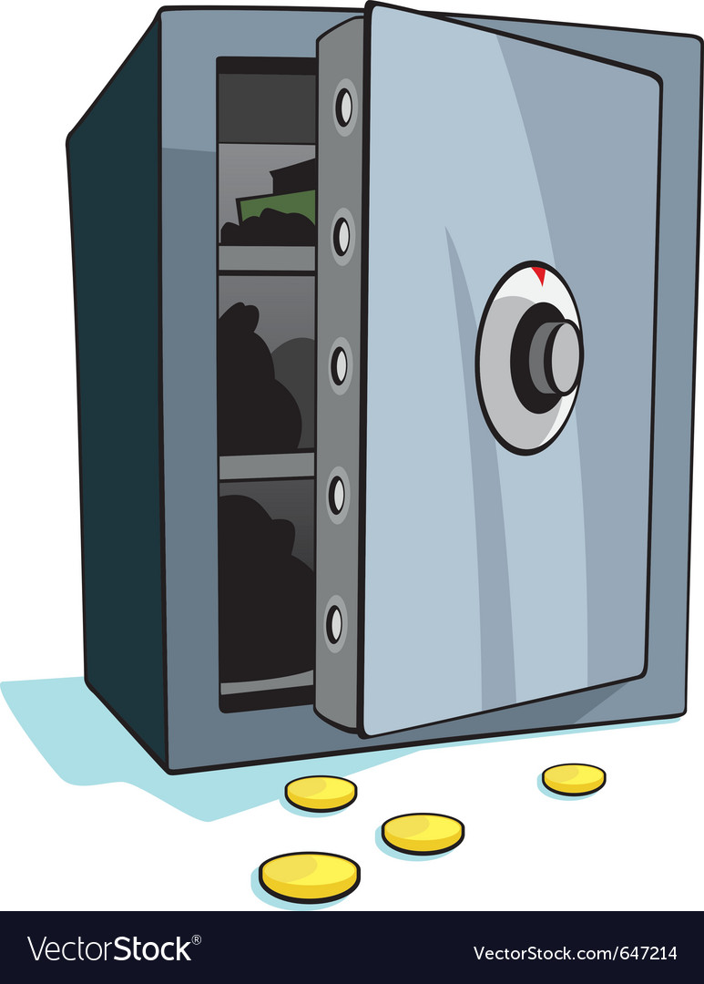 Open bank safe vector | Price: 1 Credit (USD $1)