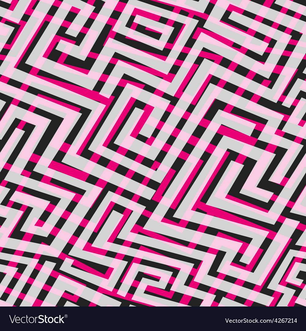 Pink maze seamless texture vector | Price: 1 Credit (USD $1)