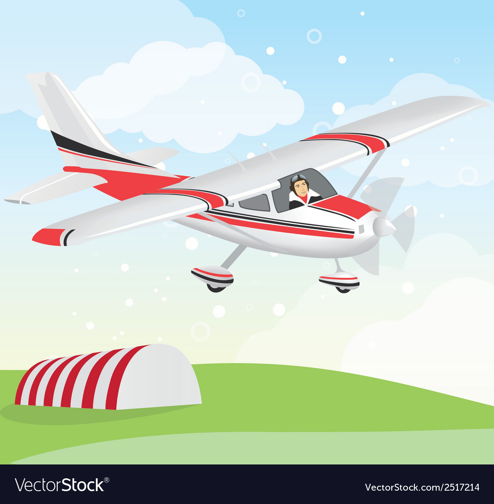 Plane with pilot vector | Price: 1 Credit (USD $1)