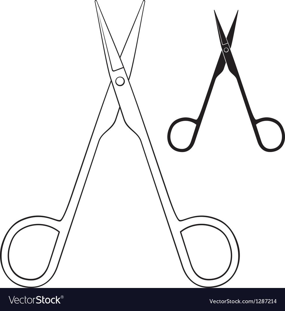 Small scissors vector | Price: 1 Credit (USD $1)