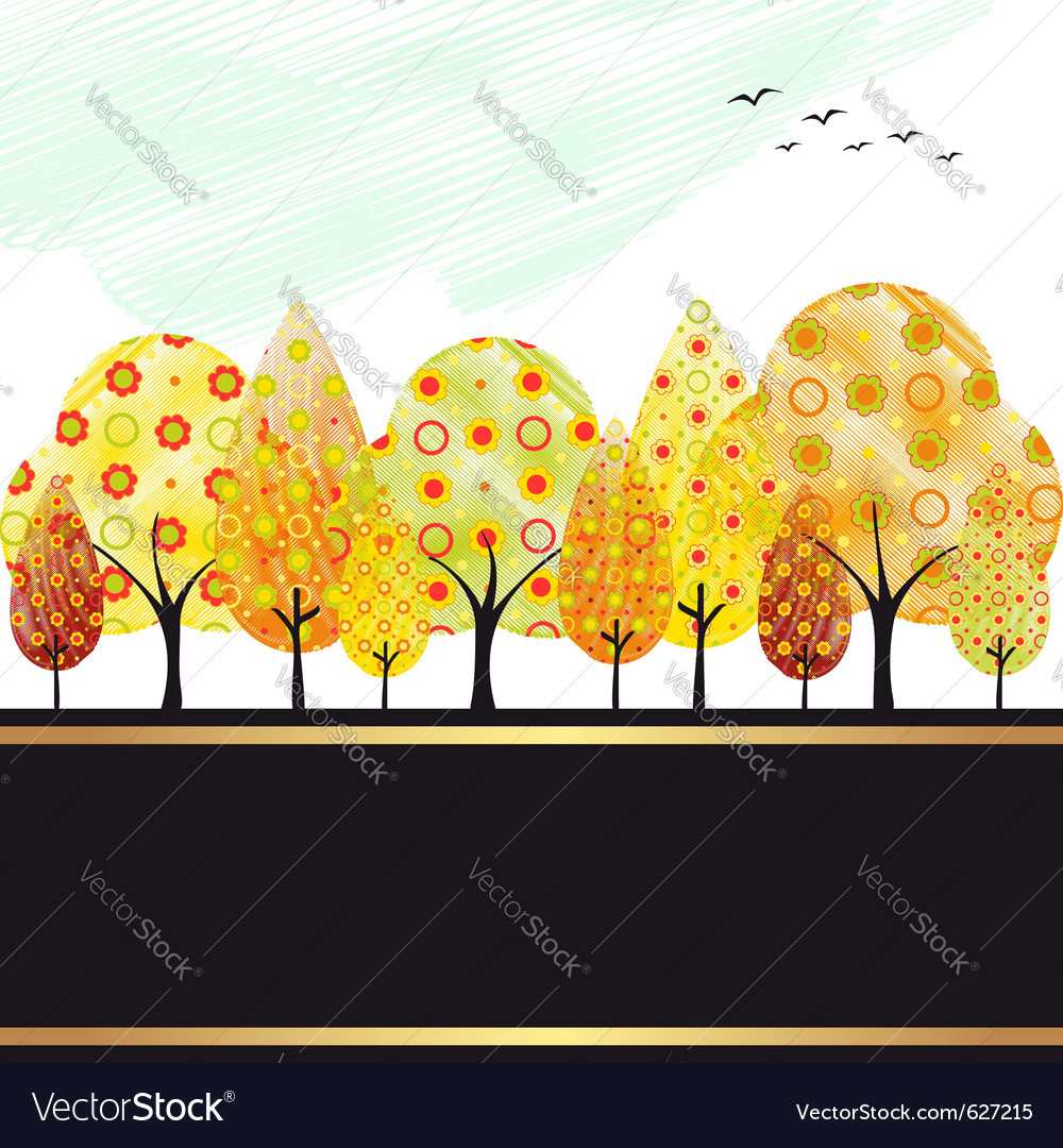 Autumn trees vector | Price:  Credit (USD $)