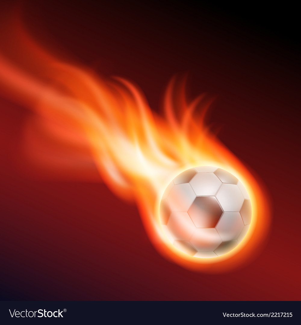 Burning soccer ball vector | Price: 1 Credit (USD $1)