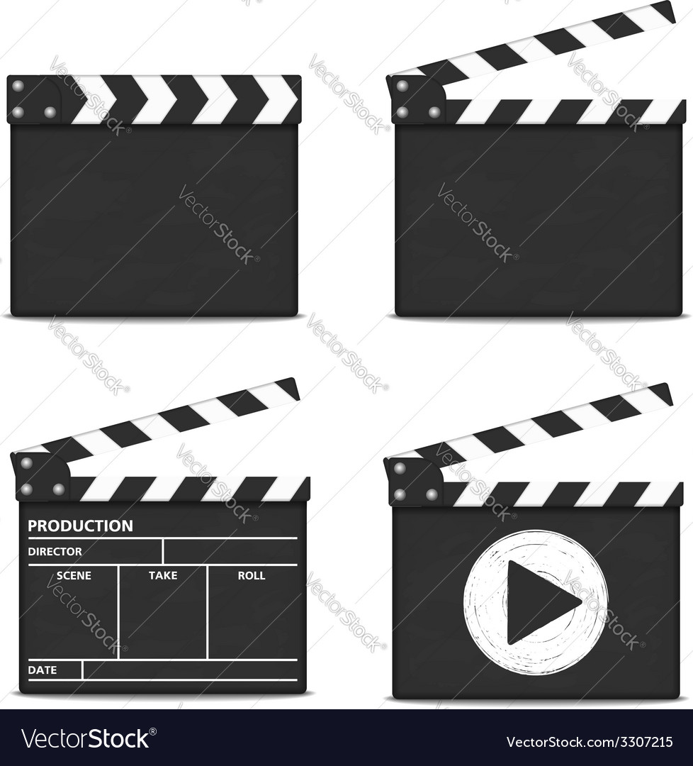 Clapper boards vector | Price: 1 Credit (USD $1)