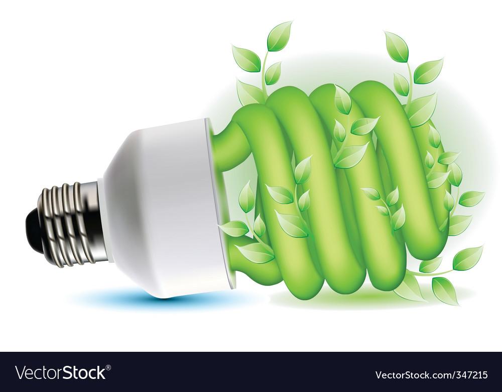 Eco friendly cfl bulb vector | Price: 1 Credit (USD $1)