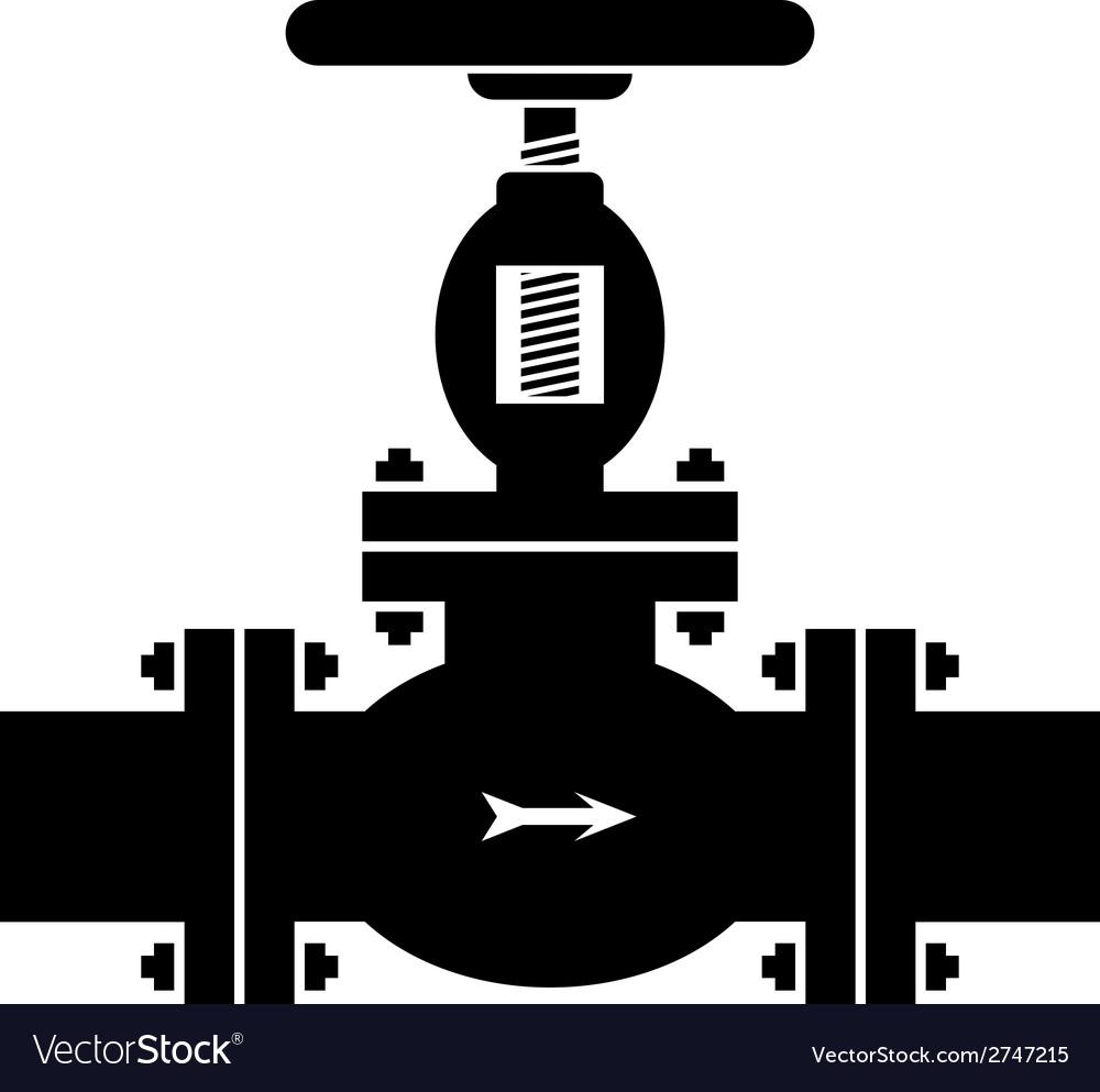 Industrial valve symbol vector | Price: 1 Credit (USD $1)