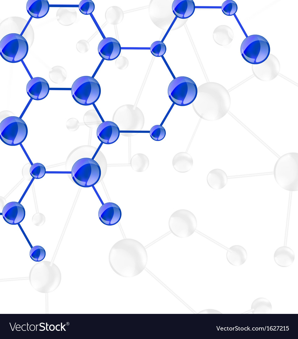 Molecular structures chain vector | Price: 1 Credit (USD $1)