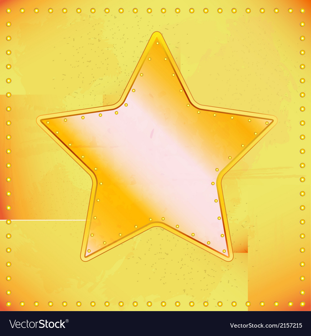 Old riveted star vector   Price: 1 Credit (USD $1)