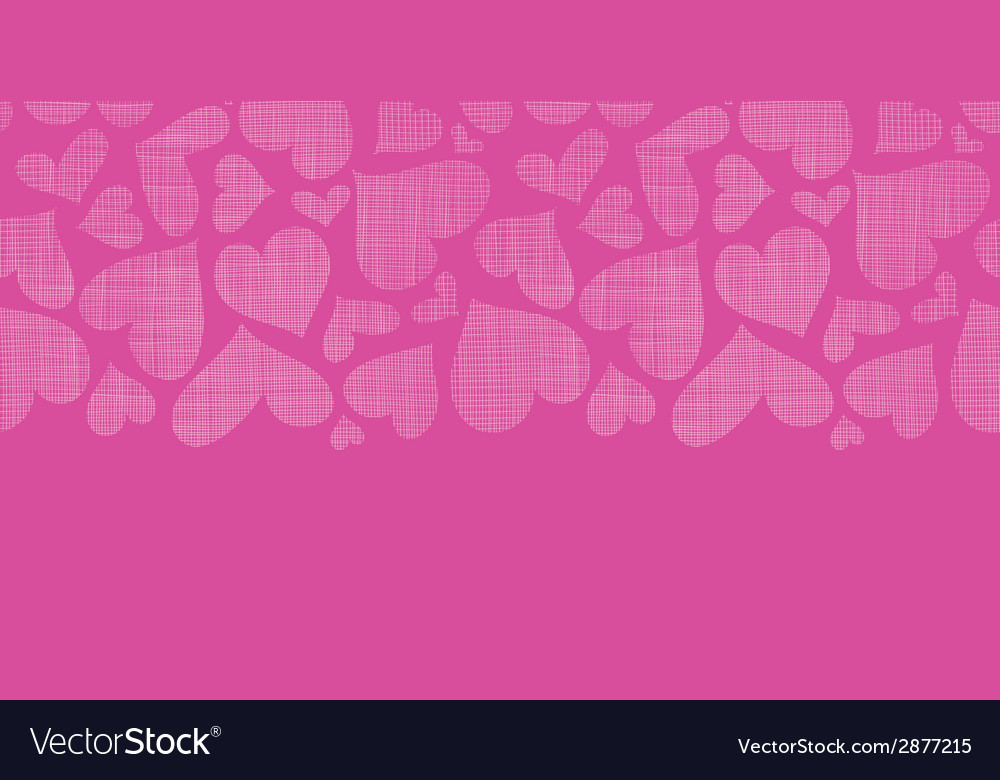 Pink lace hearts textile texture horizontal vector | Price: 1 Credit (USD $1)