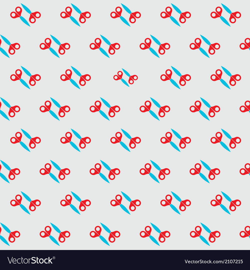 Scissors pattern vector | Price: 1 Credit (USD $1)