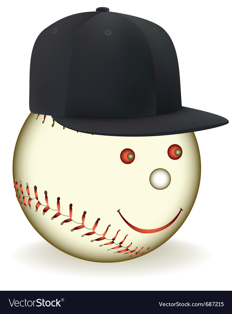 Smiling baseball character vector | Price: 1 Credit (USD $1)