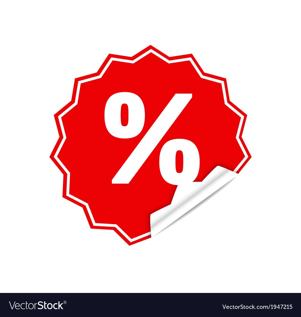 Sticker percent vector | Price: 1 Credit (USD $1)