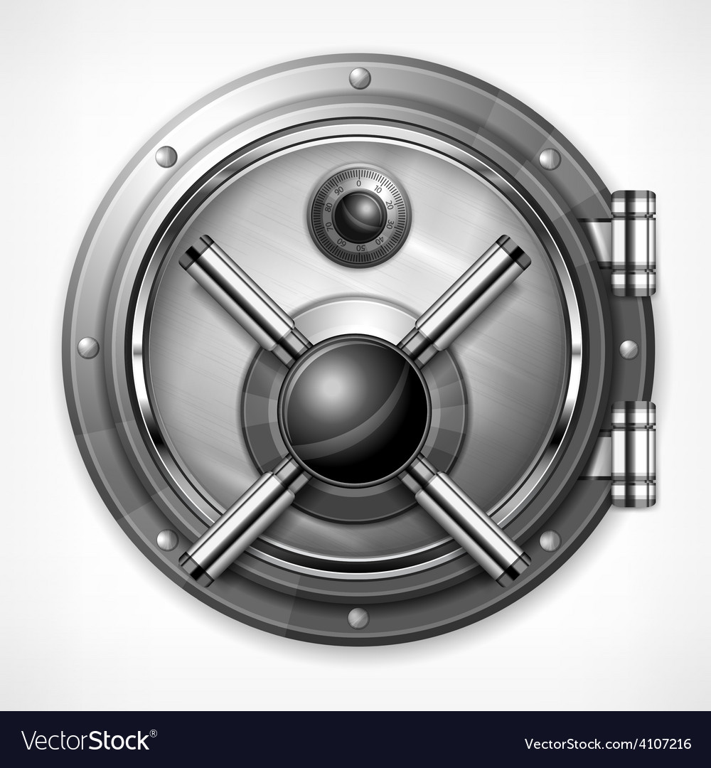 Bank vault on white vector | Price: 3 Credit (USD $3)