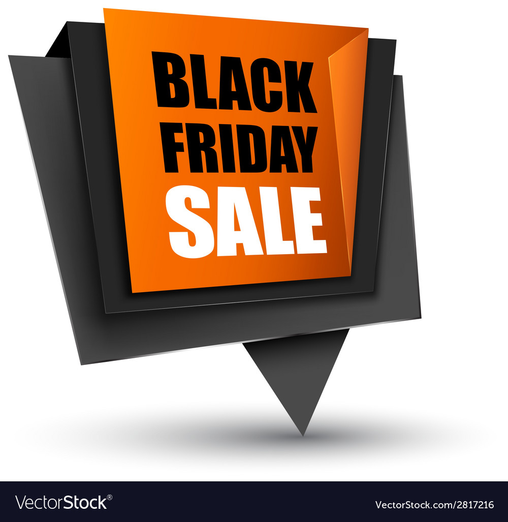 Black friday sales tag vector | Price: 1 Credit (USD $1)