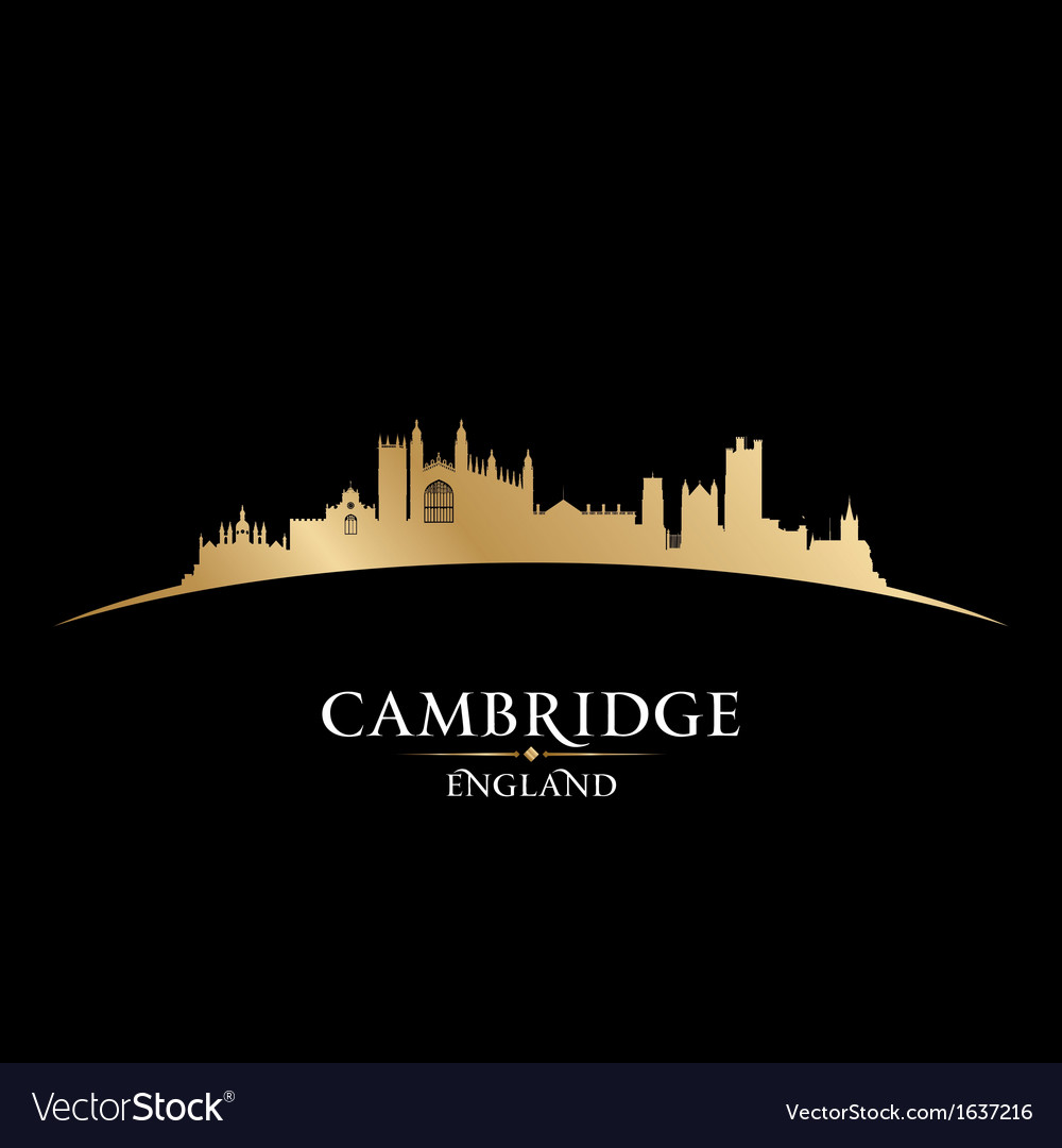 Cambridge england city skyline silhouette vector | Price: 1 Credit (USD $1)