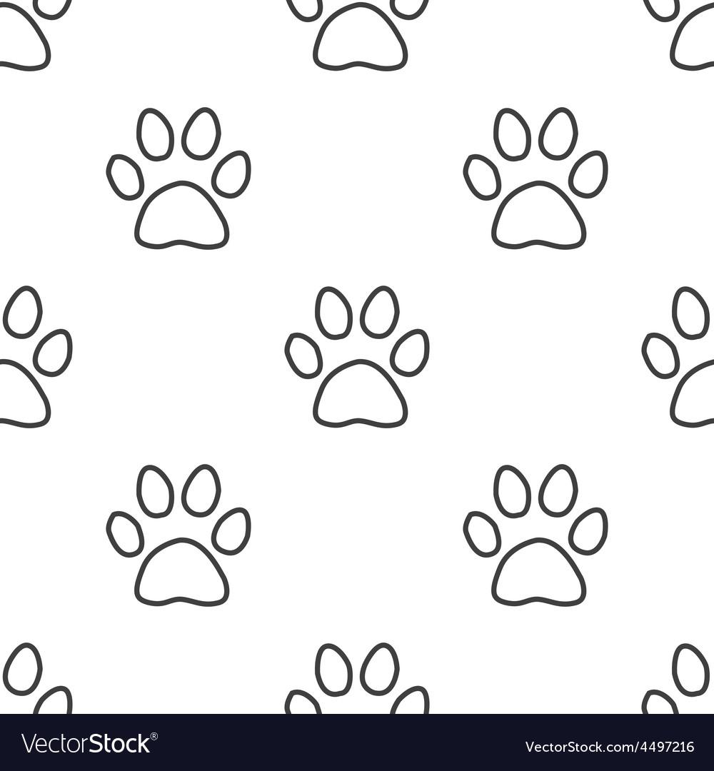 Cat footprint seamless pattern vector   Price: 1 Credit (USD $1)