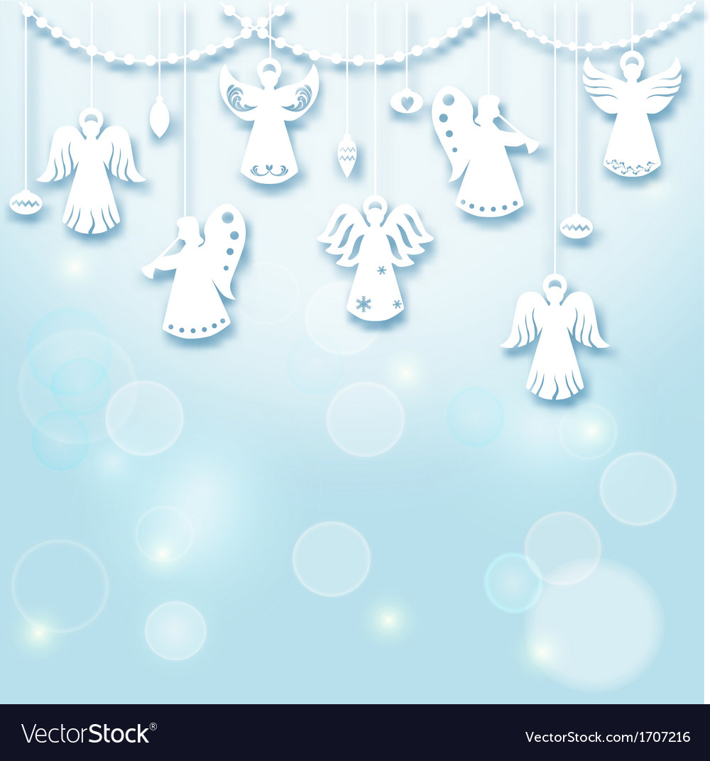 Christmas background - angels vector | Price: 1 Credit (USD $1)