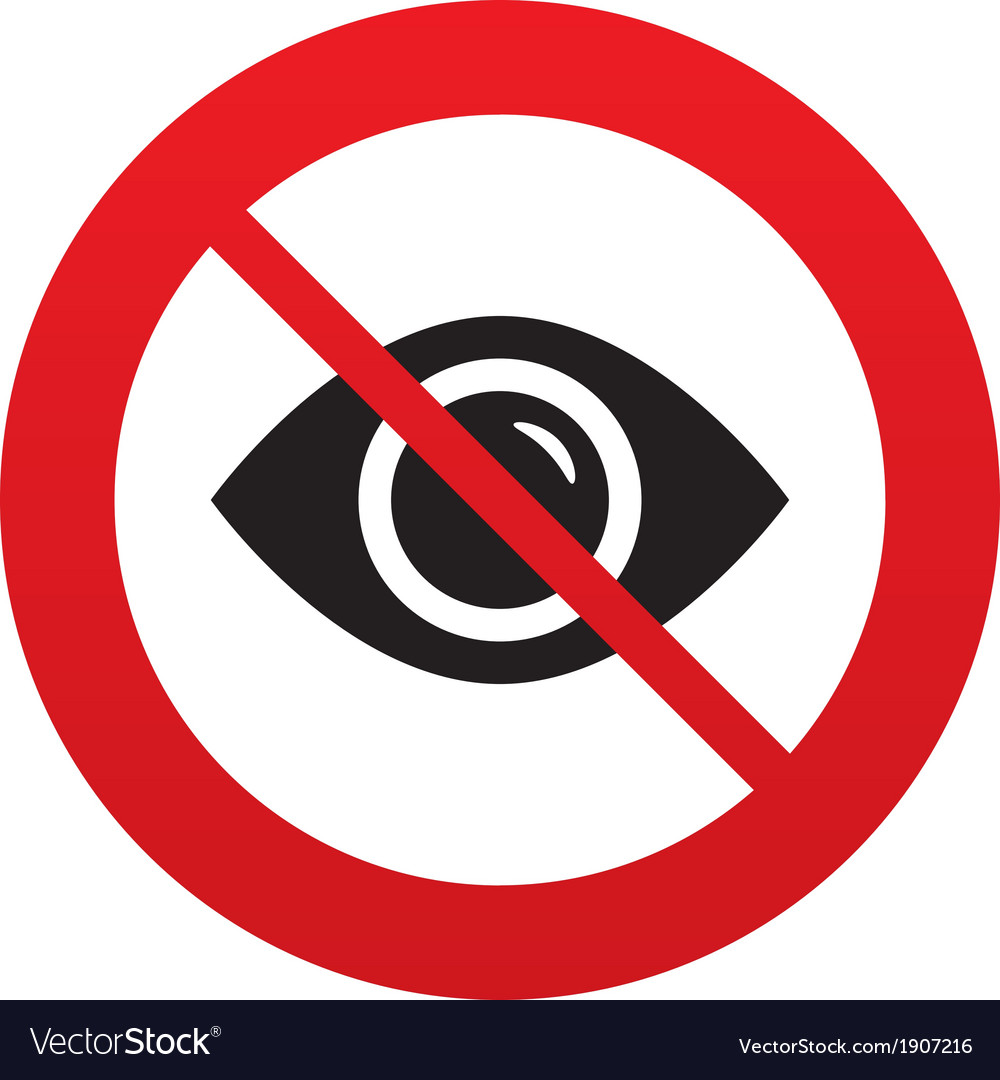 Dont look eye sign icon visibility vector | Price: 1 Credit (USD $1)