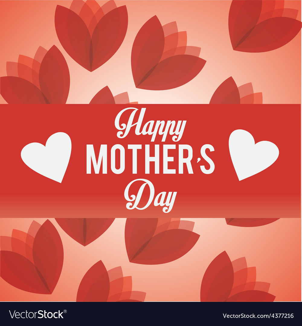 Happy mothers day card design vector | Price: 1 Credit (USD $1)