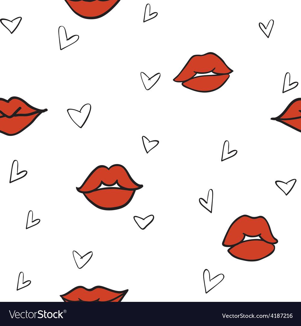 Lips hearts vector | Price: 1 Credit (USD $1)