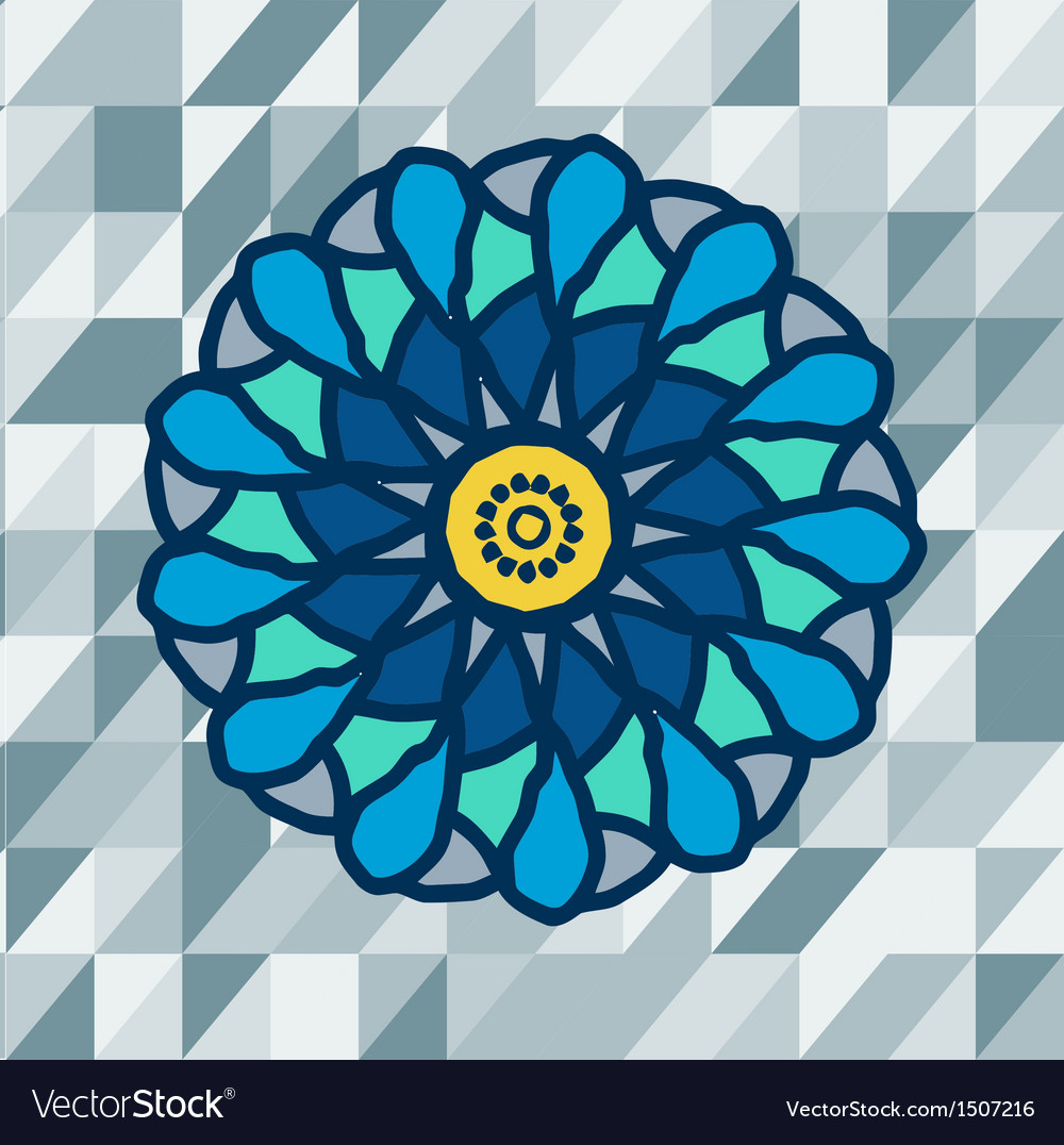 Mandala with text on blue background image vector | Price: 1 Credit (USD $1)