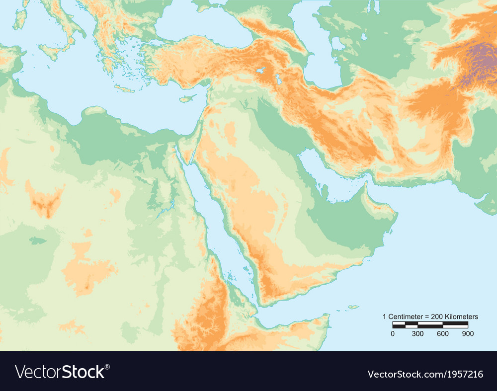 Middle east physical vector | Price: 1 Credit (USD $1)