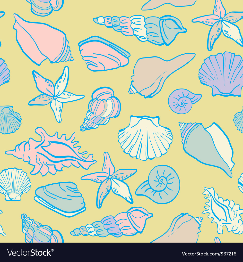 Seamless hand drawn background underwater tropical vector | Price: 1 Credit (USD $1)