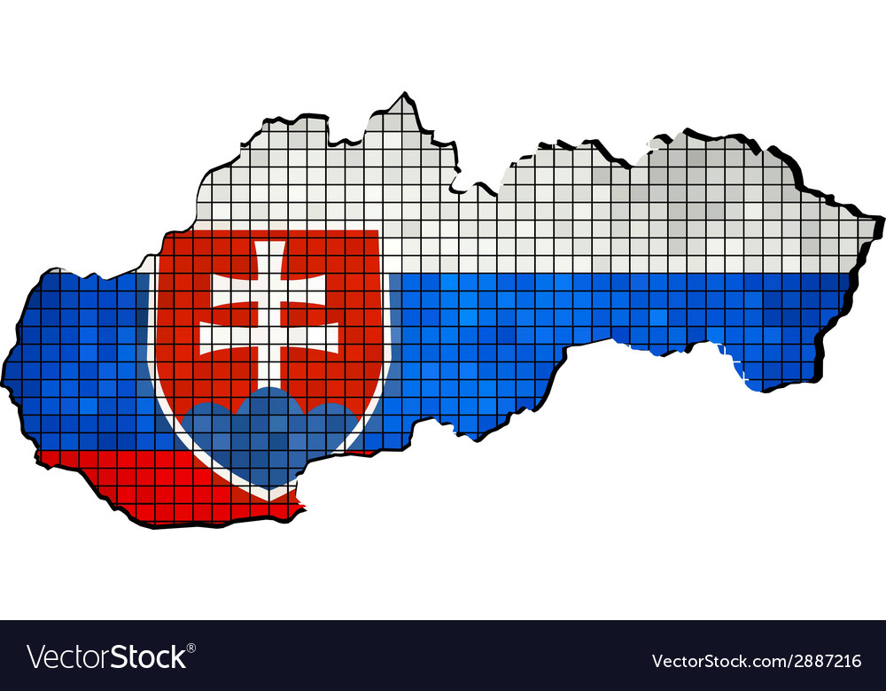 Slovakia map grunge mosaic vector | Price: 1 Credit (USD $1)