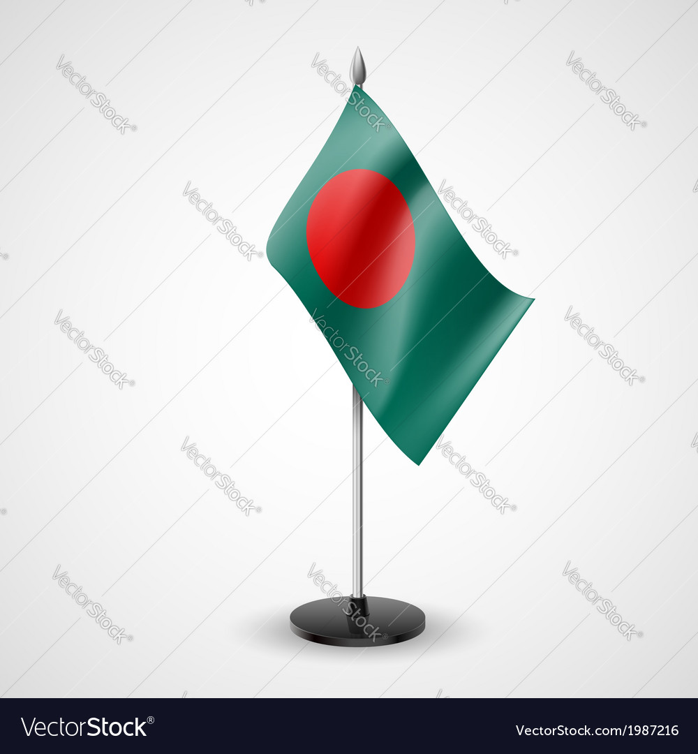 Table flag of bangladesh vector | Price: 1 Credit (USD $1)