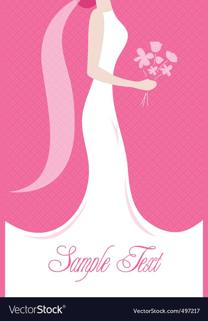 Bride with a wedding bouquet vector | Price: 1 Credit (USD $1)
