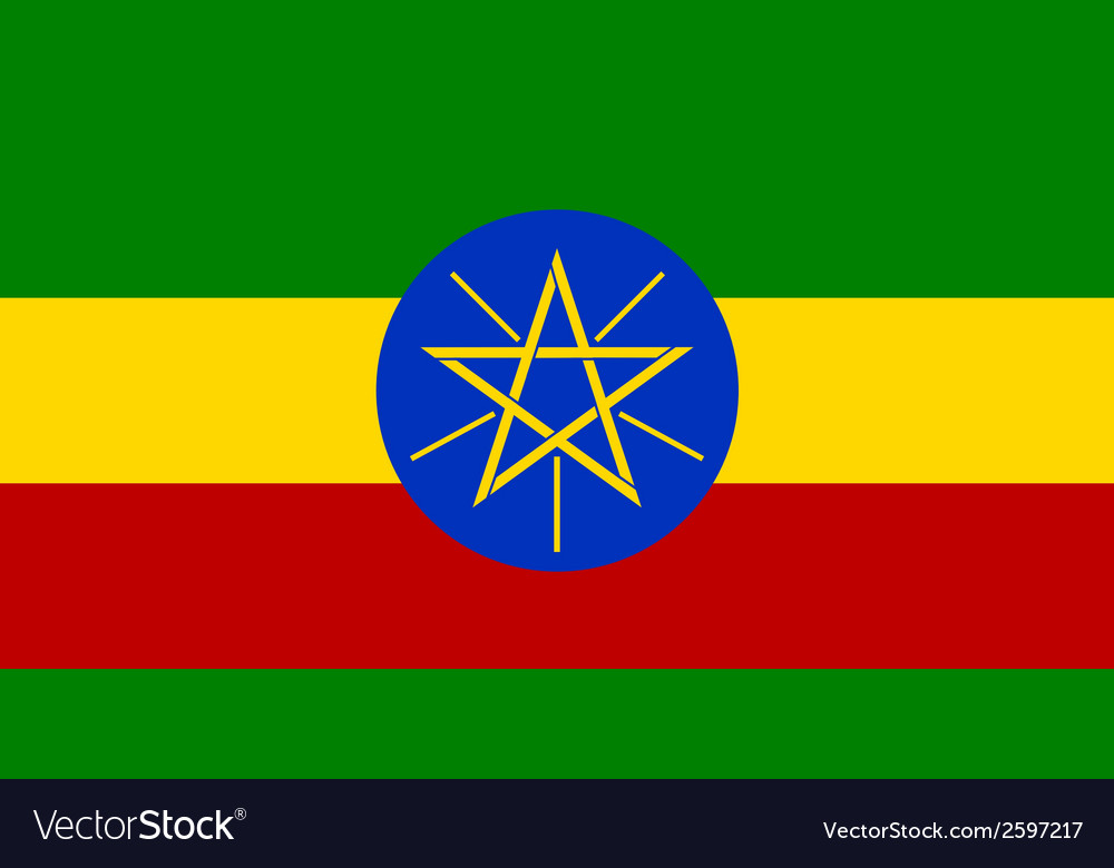 Flaf of ethiopia vector | Price: 1 Credit (USD $1)
