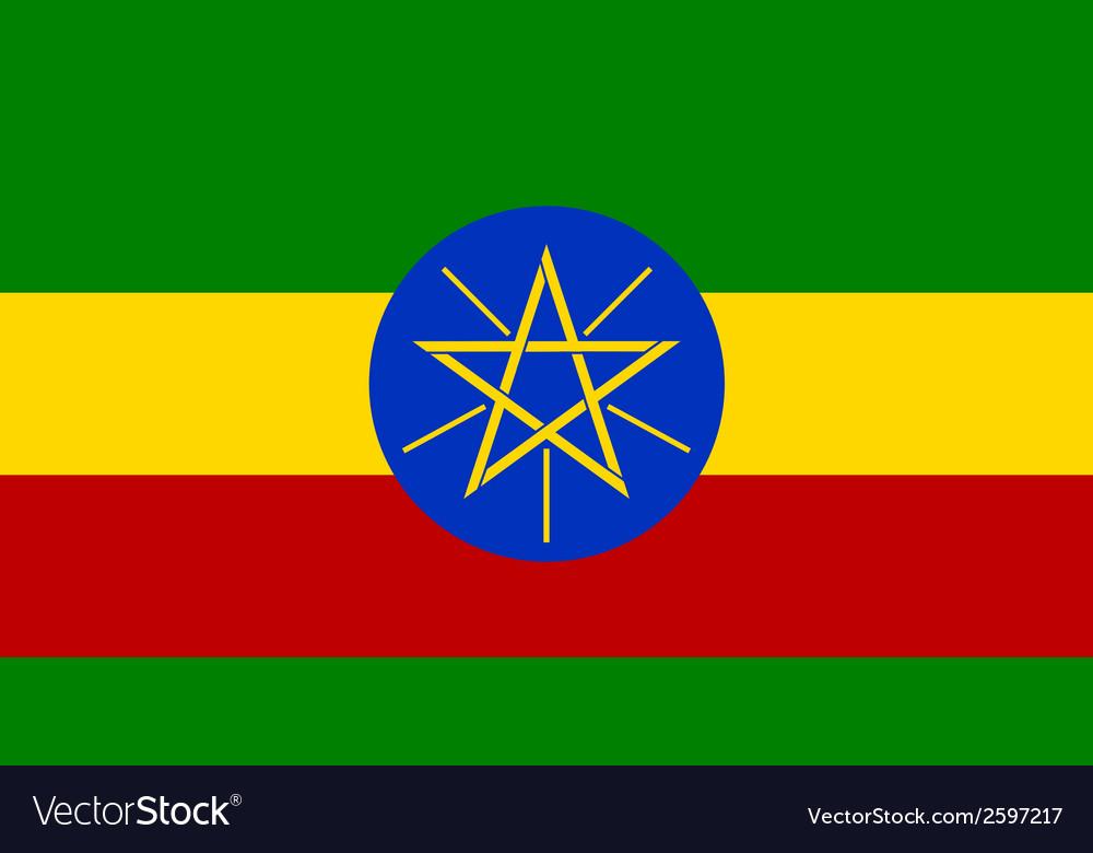 Flaf of ethiopia vector | Price: 1 Credit (USD $1)